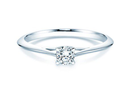 Solitärring Heaven 4 in Platin mit Diamant 0,25ct