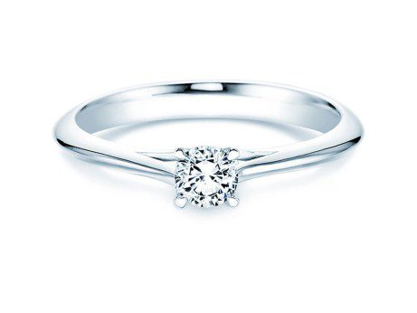 Solitärring Heaven 4 in Platin mit Diamant 0,30ct