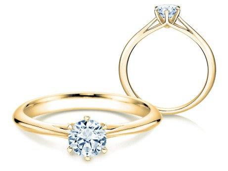 Solitärring Heaven 6<br />14K Gelbgold<br />Diamant 0,50ct