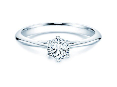 Solitärring Heaven 6<br />Silber<br />Diamant 0,50ct