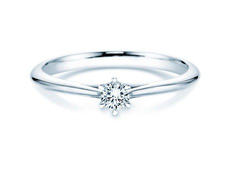 Solitärring Heaven 6 in Platin mit Diamant 0,15ct