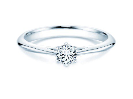 Solitärring Heaven 6 in Platin mit Diamant 0,30ct