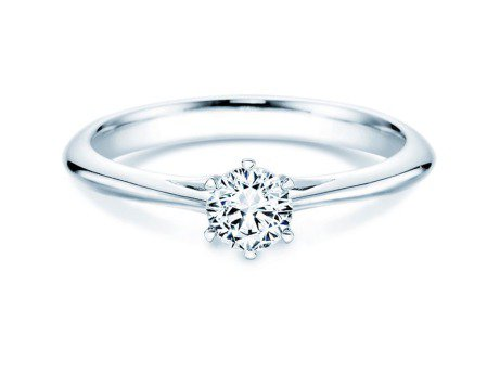 Solitärring Heaven 6 in Platin mit Diamant 0,40ct