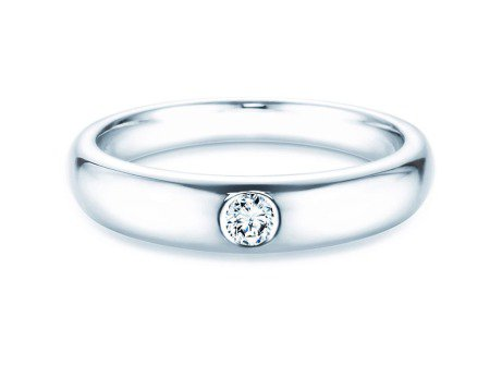 Verlobungsring Promise<br />Silber<br />Diamant 0,10ct