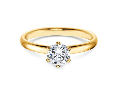 Verlobungsring Classic in 18K Gelbgold mit Diamant 0,75ct