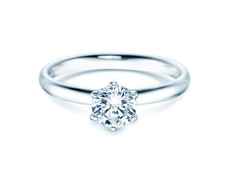 Verlobungsring Classic<br />Silber<br />Diamant 0,75ct