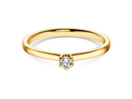 Verlobungsring Classic in 18K Gelbgold mit Diamant 0,05ct