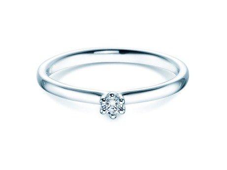 Verlobungsring Classic<br />Platin<br />Diamant 0,05ct