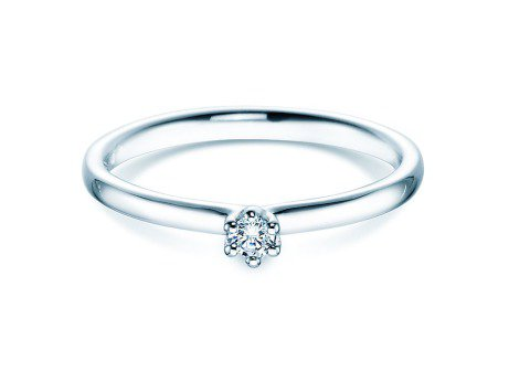 Verlobungsring Classic<br />18K Weißgold<br />Diamant 0,05ct
