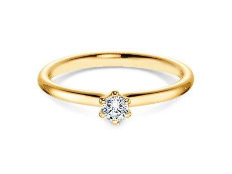 Verlobungsring Classic in 14K Gelbgold mit Diamant 0,15ct