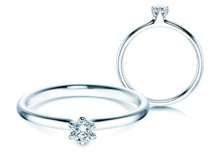 Verlobungsring Classic<br />Silber<br />Diamant 0,15ct