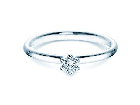 Verlobungsring Classic<br />18K Weißgold<br />Diamant 0,15ct