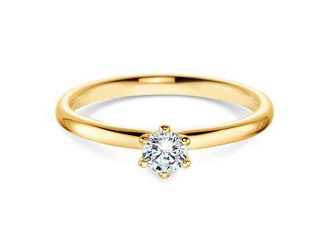 Verlobungsring Classic<br />14K Gelbgold<br />Diamant 0,30ct