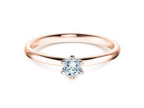 Verlobungsring Classic in 14K Roségold mit Diamant 0,40ct