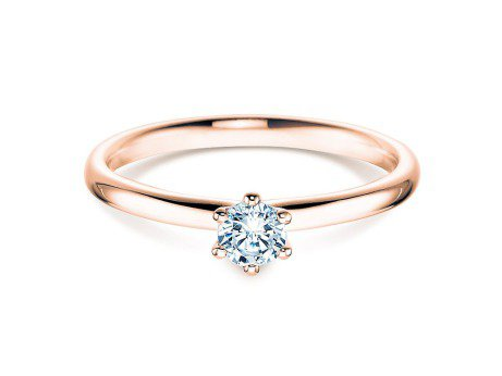 Verlobungsring Classic<br />18K Roségold<br />Diamant 0,15ct