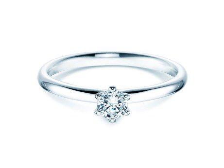 Verlobungsring Classic in Silber mit Diamant 0,25ct
