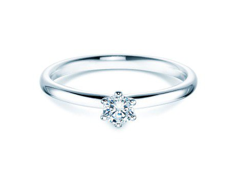 Verlobungsring Classic<br />Silber<br />Diamant 0,20ct