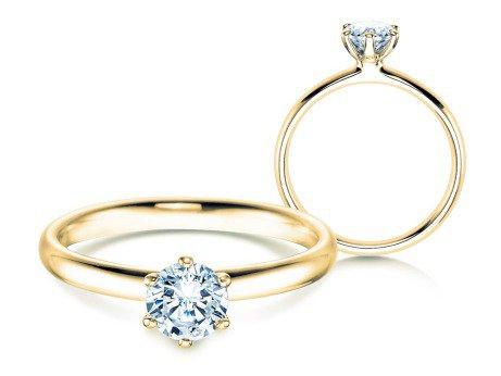 Verlobungsring Classic<br />18K Gelbgold<br />Diamant 0,60ct