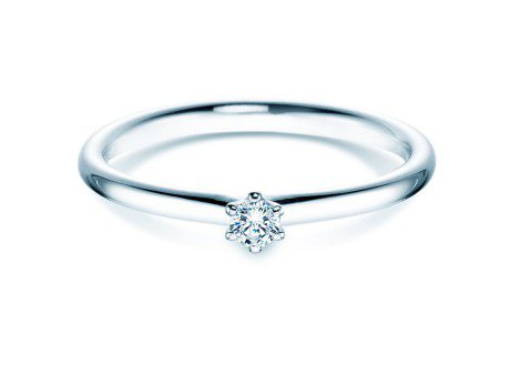 Verlobungsring Classic<br />Silber<br />Diamant 0,07ct