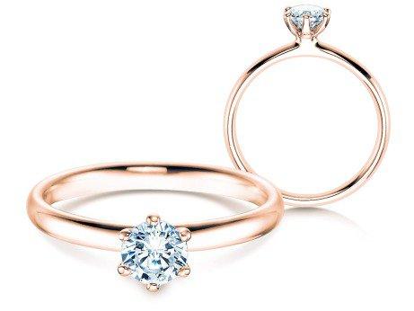 Verlobungsring Classic in 14K Roségold mit Diamant 0,50ct