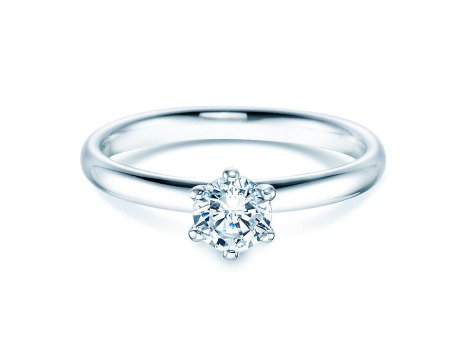 Verlobungsring Classic<br />Silber<br />Diamant 0,50ct