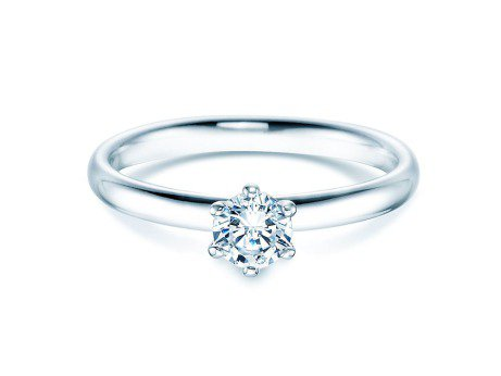 Verlobungsring Classic<br />Silber<br />Diamant 0,40ct