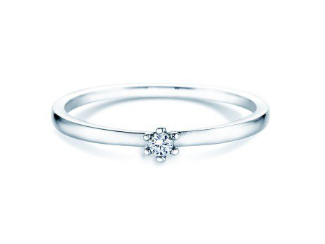 Verlobungsring Classic Petite<br />18K Weißgold<br />Diamant 0,05ct