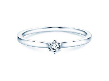 Verlobungsring Classic Petite<br />14K Weißgold<br />Diamant 0,07ct