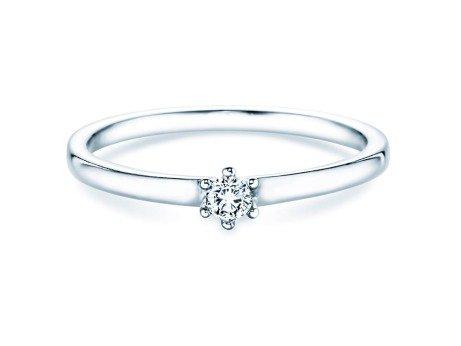 Verlobungsring Classic Petite<br />18K Weißgold<br />Diamant 0,09ct