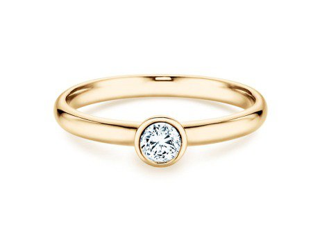 Solitärring Eternal<br />14K Gelbgold<br />Diamant 0,25ct