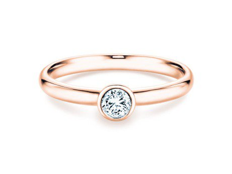 Solitärring Eternal in 14K Roségold mit Diamant 0,35ct