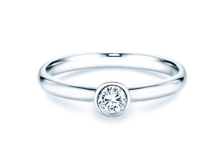 Solitärring Eternal<br />18K Weißgold<br />Diamant 0,25ct