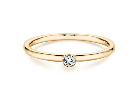 Solitärring Eternal in 14K Gelbgold mit Diamant 0,05ct