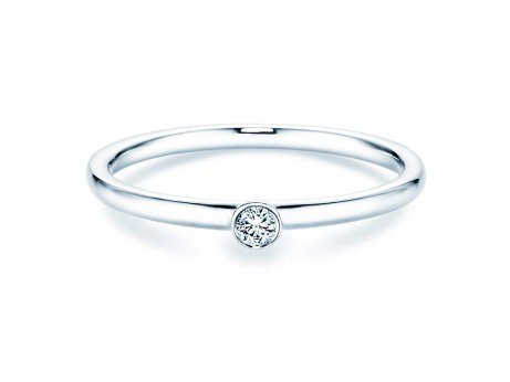 Solitärring Eternal in Silber mit Diamant 0,05ct