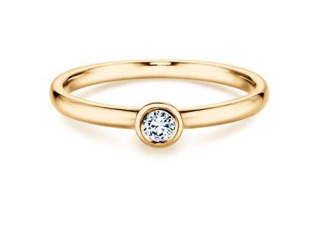 Solitärring Eternal in 18 Karat Gelbgold (750/-) mit Diamant 0,10 Karat