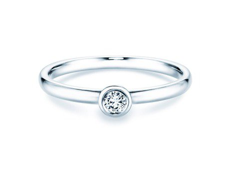 Solitärring Eternal in Platin mit Diamant 0,10ct