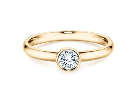 Solitärring Eternal in 14K Gelbgold mit Diamant 0,35ct