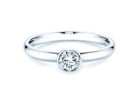 Solitärring Eternal in Platin mit Diamant 0,35ct