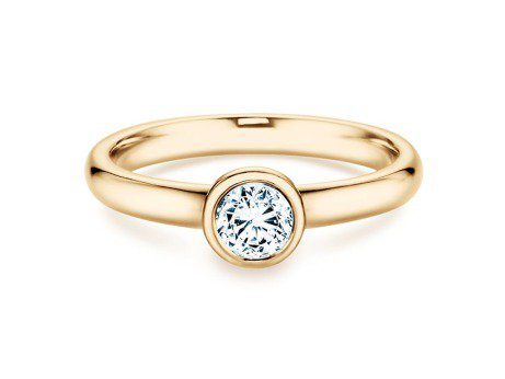 Solitärring Eternal in 14K Gelbgold mit Diamant 0,40ct