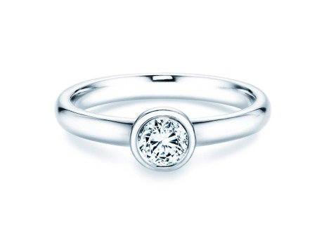 Solitärring Eternal<br />14K Weißgold<br />Diamant 0,40ct