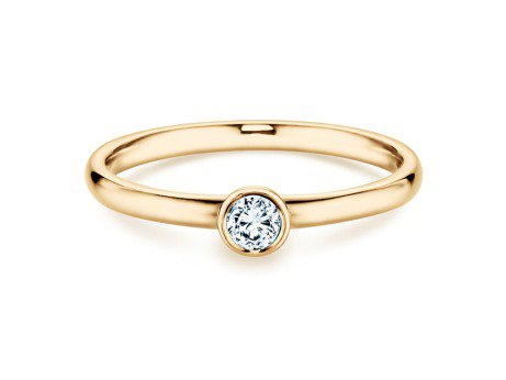 Solitärring Eternal in 14K Gelbgold mit Diamant 0,15ct