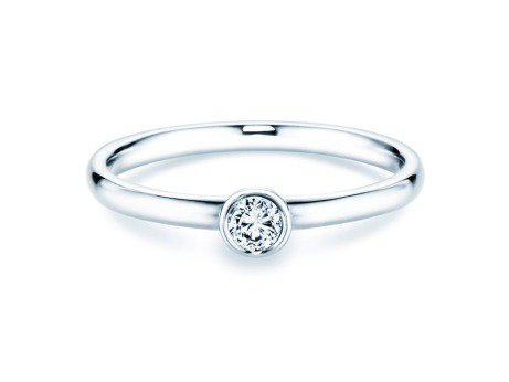 Solitärring Eternal in 18 Karat Weißgold (750/-) mit Diamant 0,15ct