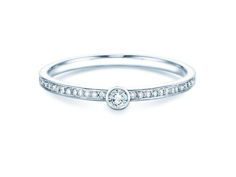 Solitärring Eternal Pavé<br />14K Weißgold<br />Diamant 0,21ct