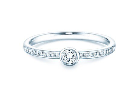 Solitärring Eternal Pavé<br />Platin<br />Diamant 0,25ct