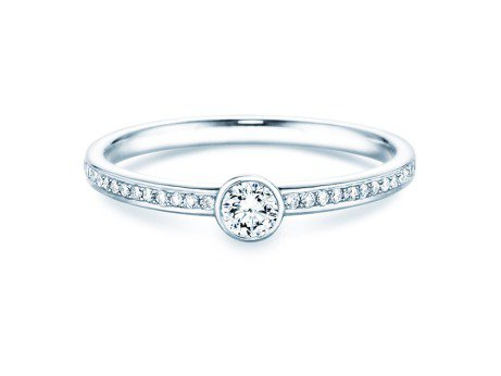 Solitärring Eternal Pavé<br />Silber<br />Diamant 0,30ct