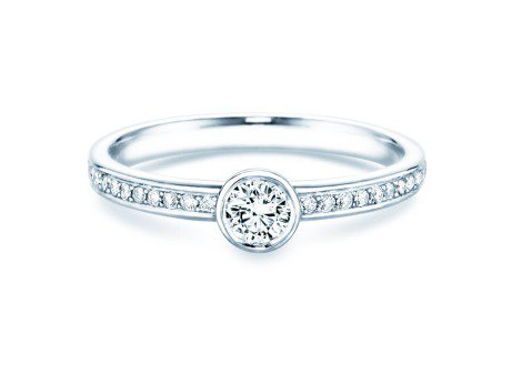 Solitärring Eternal Pavé<br />Platin<br />Diamant 0,40ct