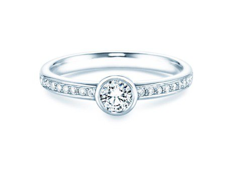 Solitärring Eternal Pavé<br />Platin<br />Diamant 0,46ct