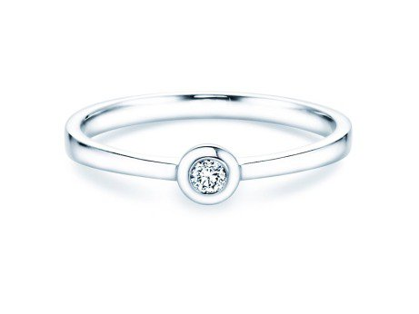 Solitärring Eternal Petite<br />18K Weißgold<br />Diamant 0,05ct