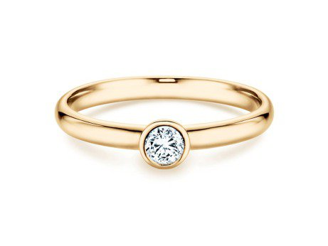 Solitärring Eternal in 14K Gelbgold mit Diamant 0,20ct