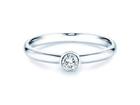 Solitärring Eternal in 14K Weißgold mit Diamant 0,20ct